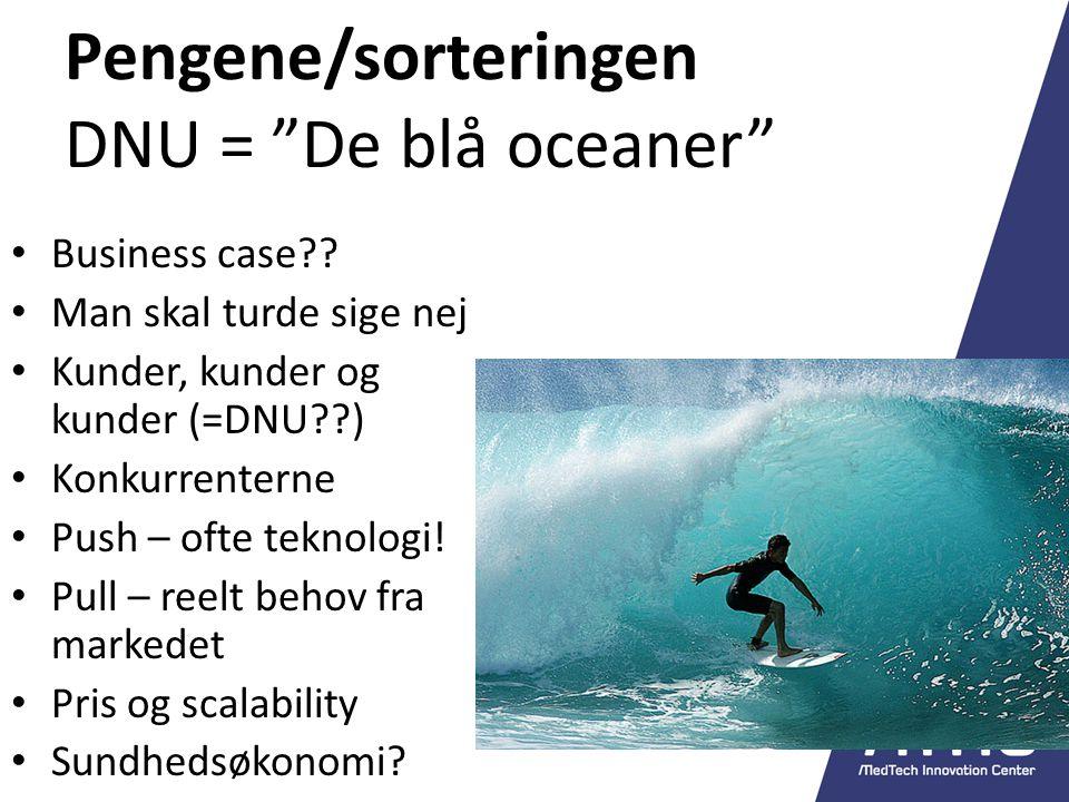 Pengene/sorteringen DNU = De blå oceaner Business case .