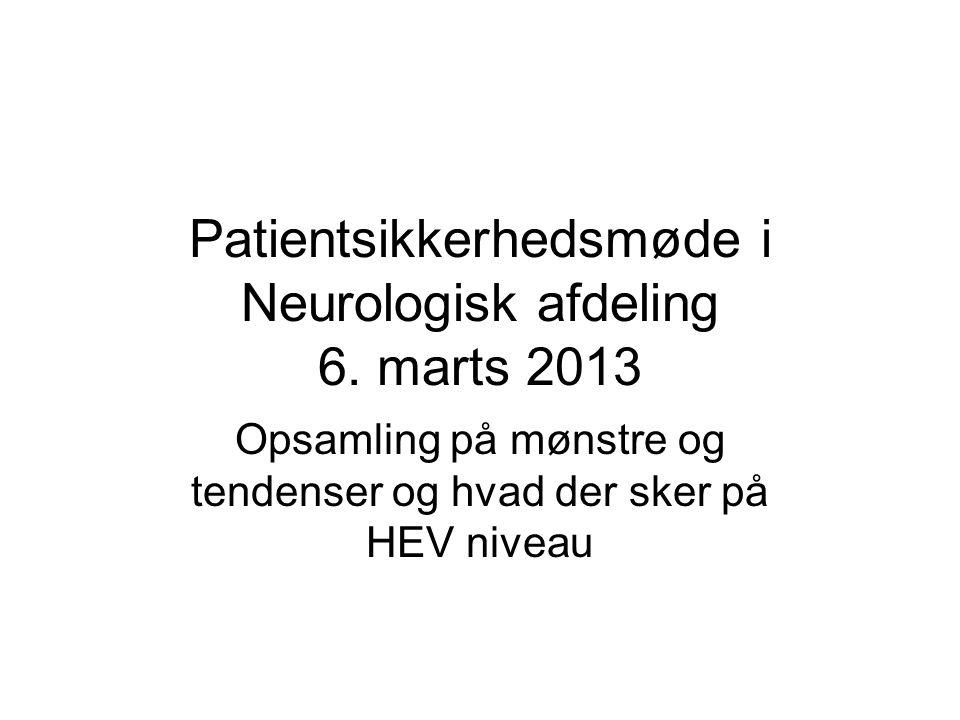 Patientsikkerhedsmøde i Neurologisk afdeling 6.
