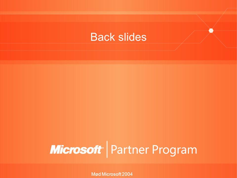 Mød Microsoft 2004 Back slides