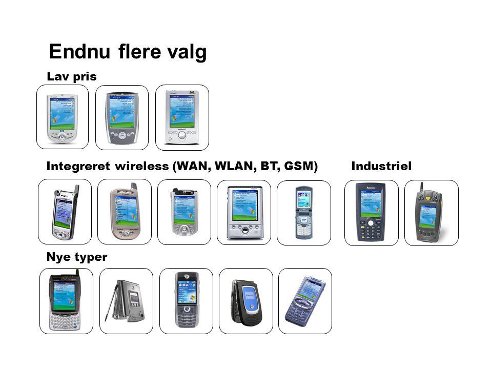 Endnu flere valg Lav pris Integreret wireless (WAN, WLAN, BT, GSM) Nye typer Industriel