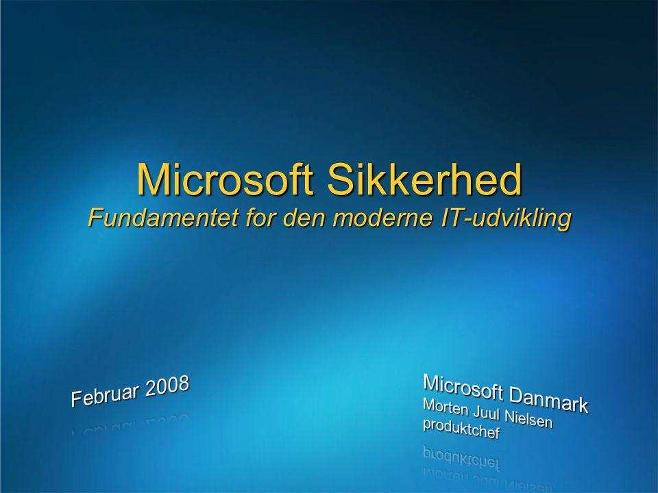 Microsoft Sikkerhed Fundamentet for den moderne IT-udvikling