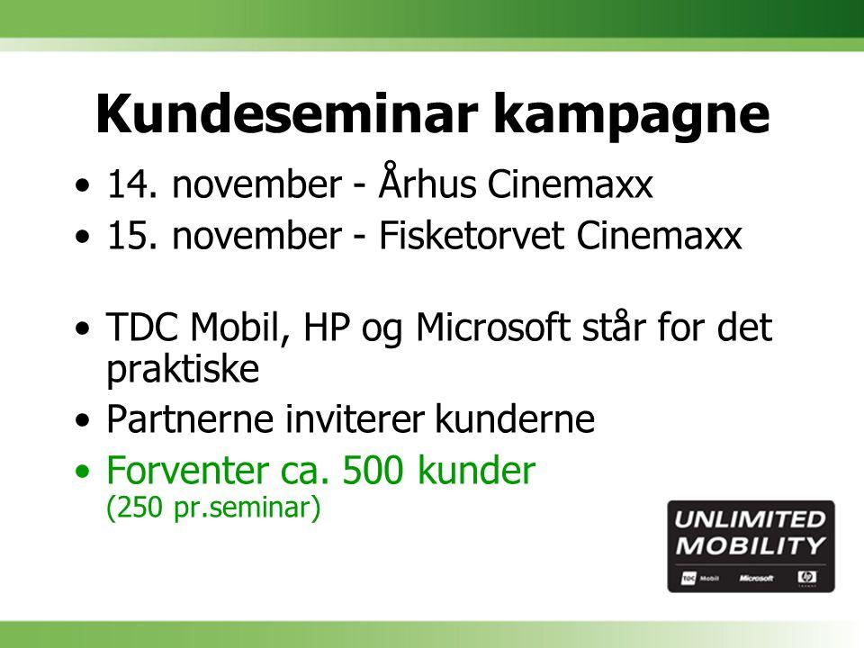 Kundeseminar kampagne 14. november - Århus Cinemaxx 15.