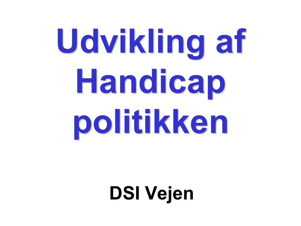Udvikling af Handicap politikken DSI Vejen