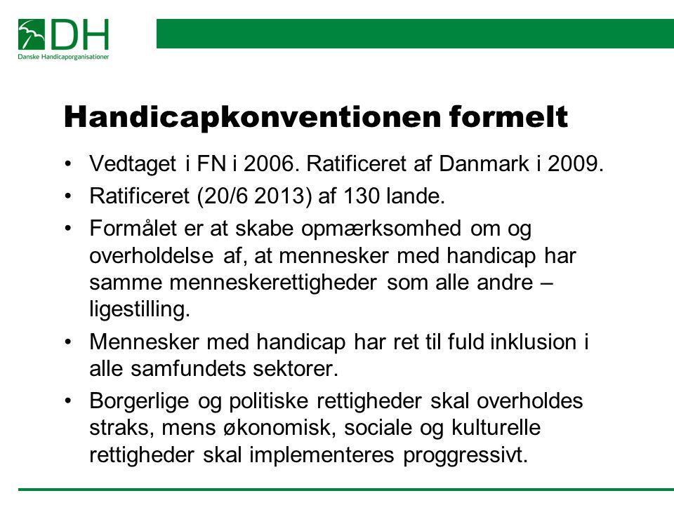 Handicapkonventionen formelt Vedtaget i FN i 2006.