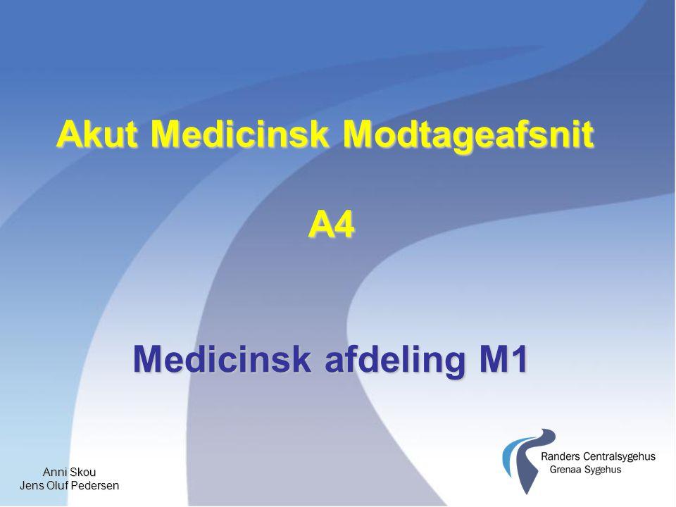 Anni Skou Jens Oluf Pedersen Akut Medicinsk Modtageafsnit A4 Medicinsk afdeling M1