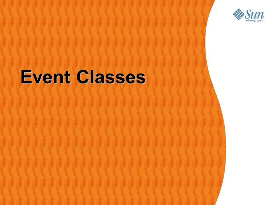12 NOEA2009Java-kursus – GUI med Swing Event Classes Event Classes