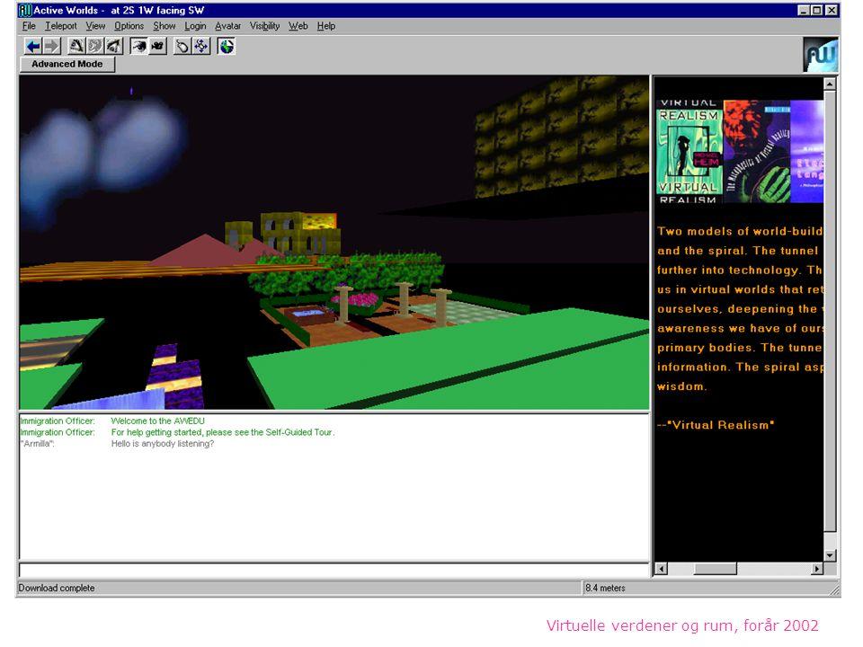 Virtuelle verdener og rum, forår 2002