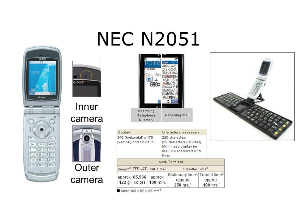 NEC N2051 Inner camera Outer camera