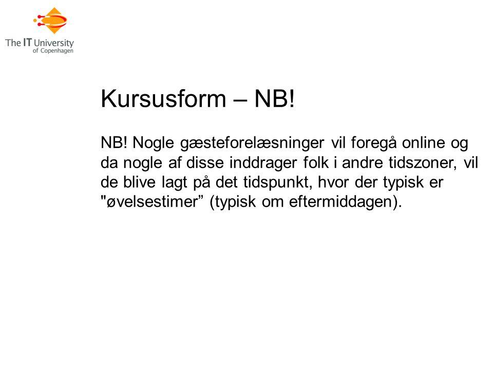 Kursusform – NB. NB.