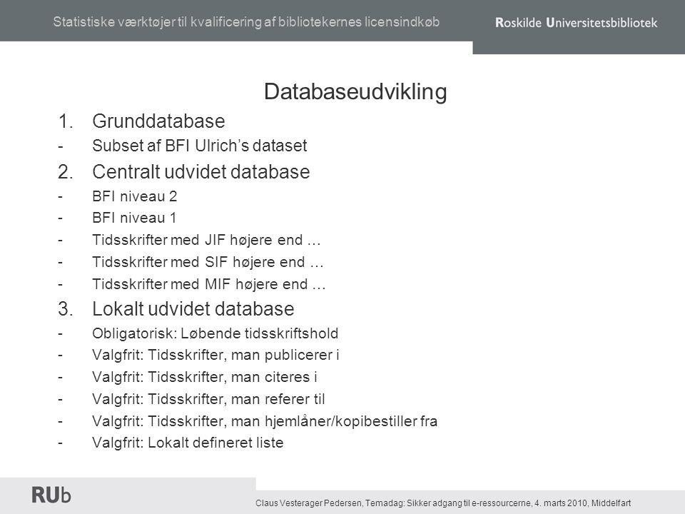 Claus Vesterager Pedersen, Temadag: Sikker adgang til e-ressourcerne, 4.