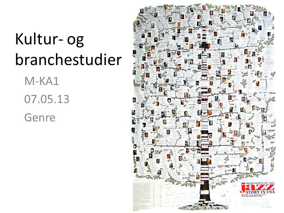 Kultur- og branchestudier M-KA1 07.05.13 Genre