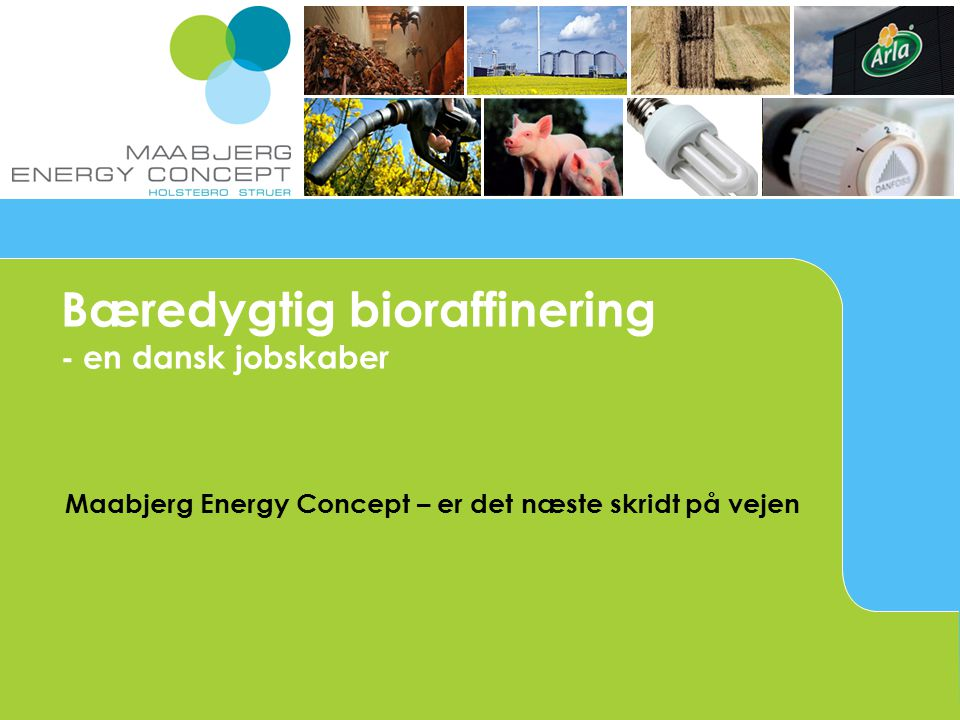 Maabjerg Energy Concept – er det næste skridt på vejen Bæredygtig bioraffinering - en dansk jobskaber