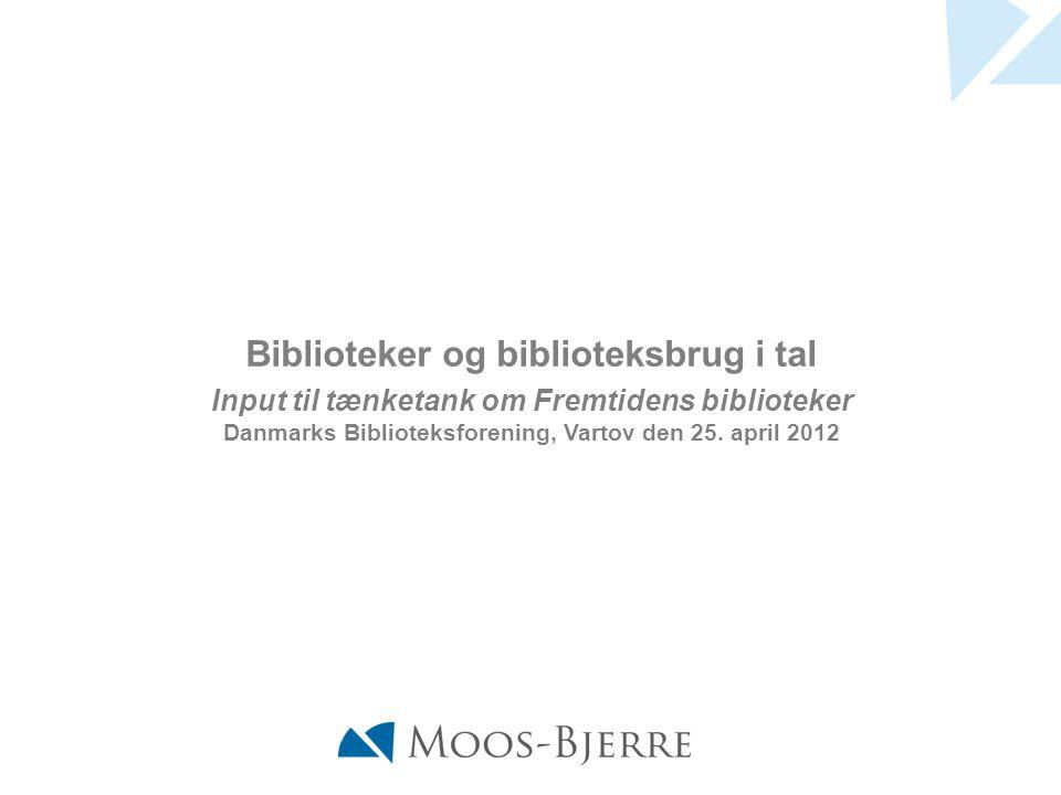 Input til tænketank om Fremtidens biblioteker Danmarks Biblioteksforening, Vartov den 25.