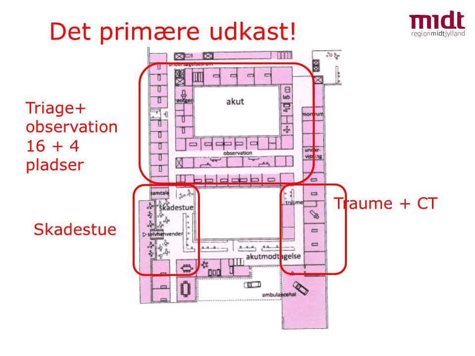 Det primære udkast! Traume + CT Triage+ observation 16 + 4 pladser Skadestue