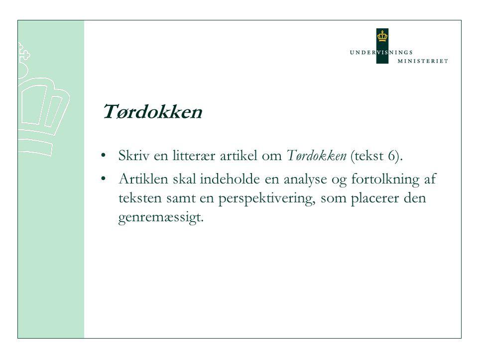 Kronikken En plads i en avis: fra videnskabelig artikel til anmeldelse og personlig kommentar En danskfagligt bestemt genre gennem de præciserende krav i opgaveformuleringen