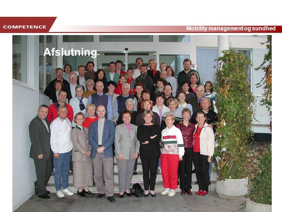 www.transportlearning.net Mobility management og sundhed Afslutning