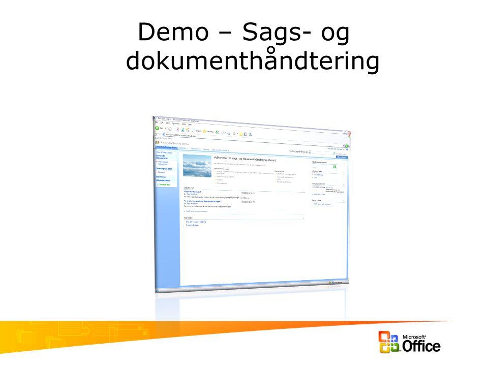 Demo – Sags- og dokumenthåndtering