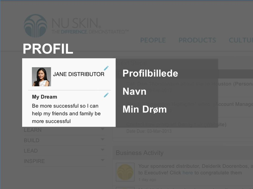 PROFIL Profilbillede Navn Min Dr ø m