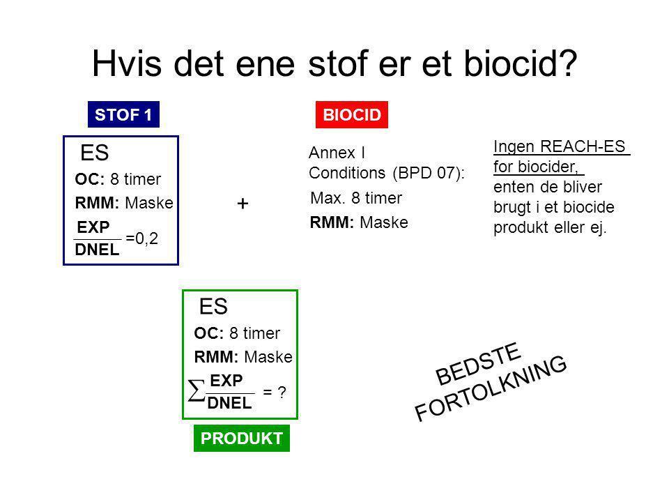 Hvis det ene stof er et biocid.