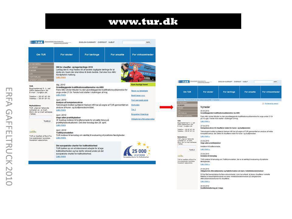 www.tur.dk ERFA GAFFELTRUCK 2010