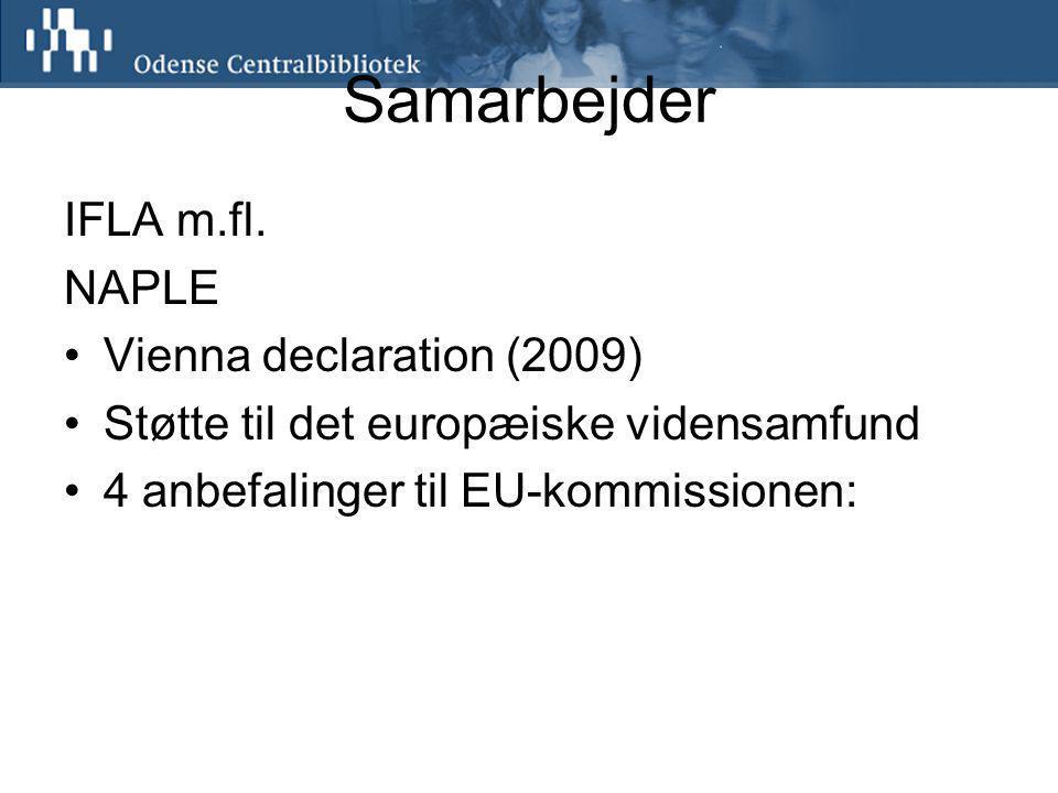 Samarbejder IFLA m.fl.