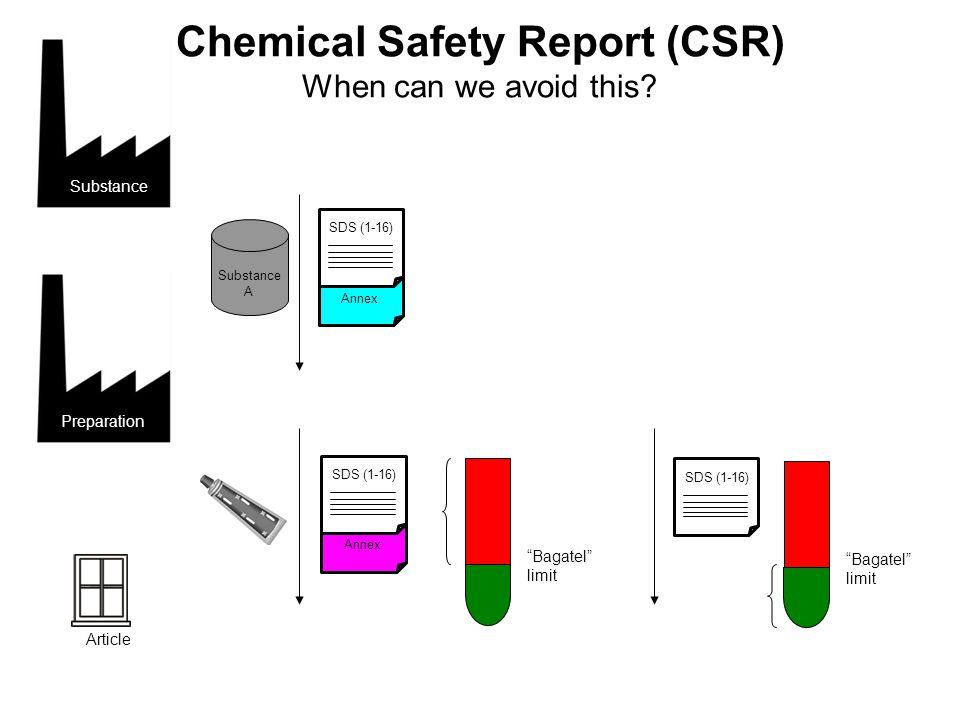 Chemical Safety Report (CSR) When can we avoid this.