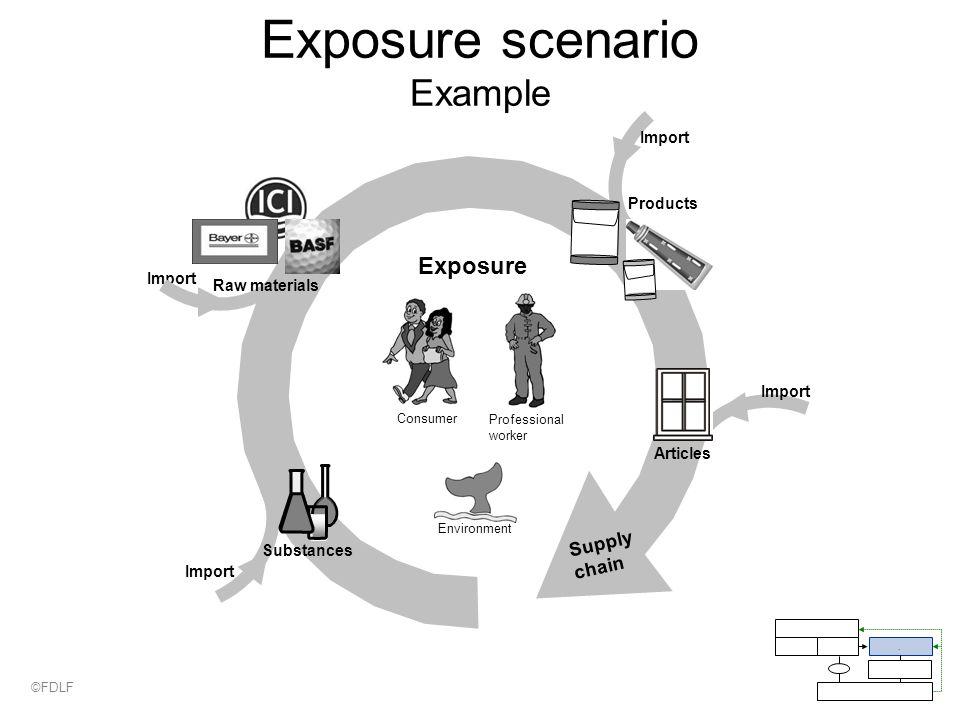 Supply chain Exposure scenario Example Professional worker Exposure Import.