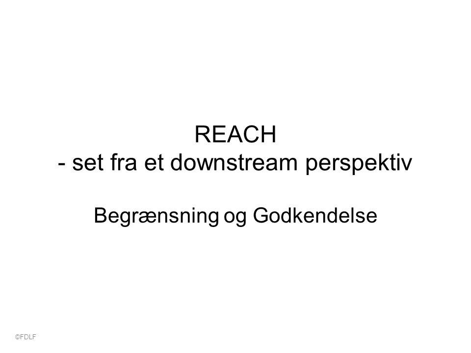 REACH - set fra et downstream perspektiv Begrænsning og Godkendelse ©FDLF