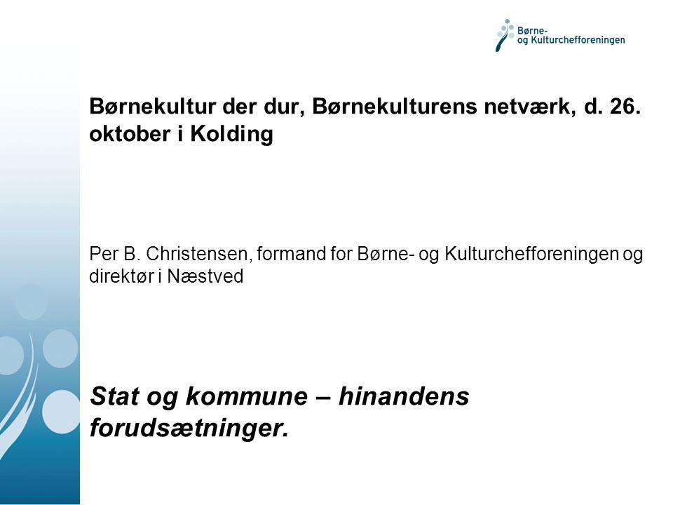 Børnekultur der dur, Børnekulturens netværk, d. 26.