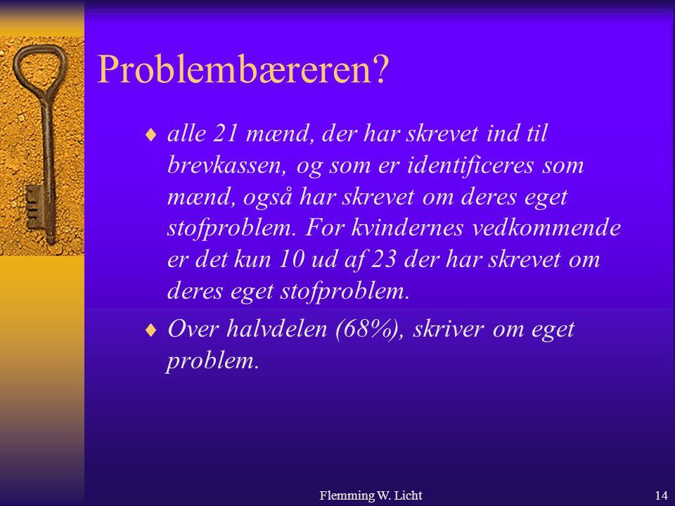 Flemming W. Licht14 Problembæreren.