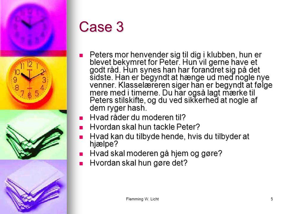Flemming W. Licht4 Case 2 Du arbejder i en klub.