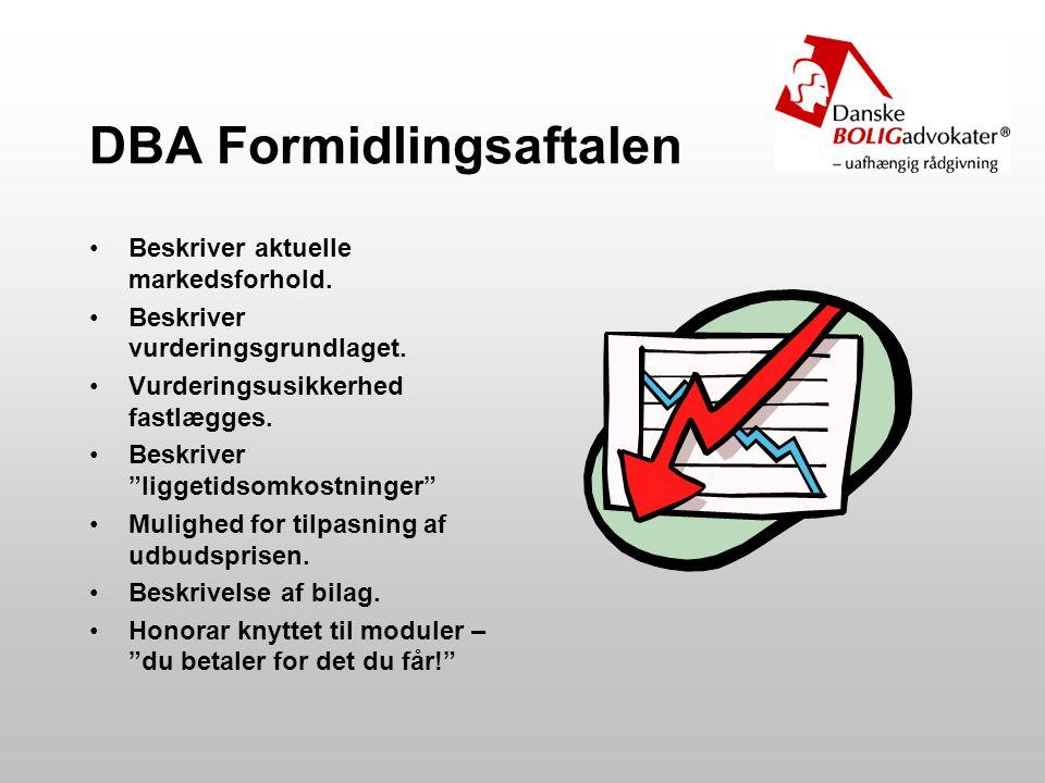 DBA Formidlingsaftalen Beskriver aktuelle markedsforhold.