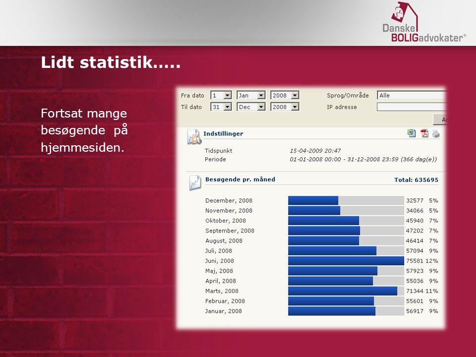 Lidt statistik….. Fortsat mange besøgende på hjemmesiden.
