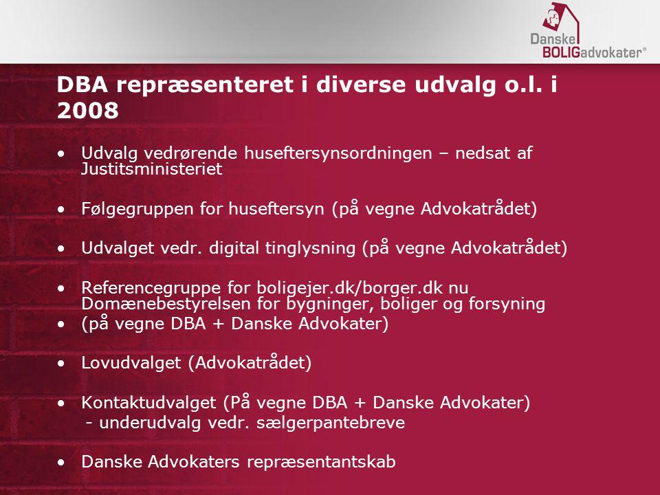 DBA repræsenteret i diverse udvalg o.l.