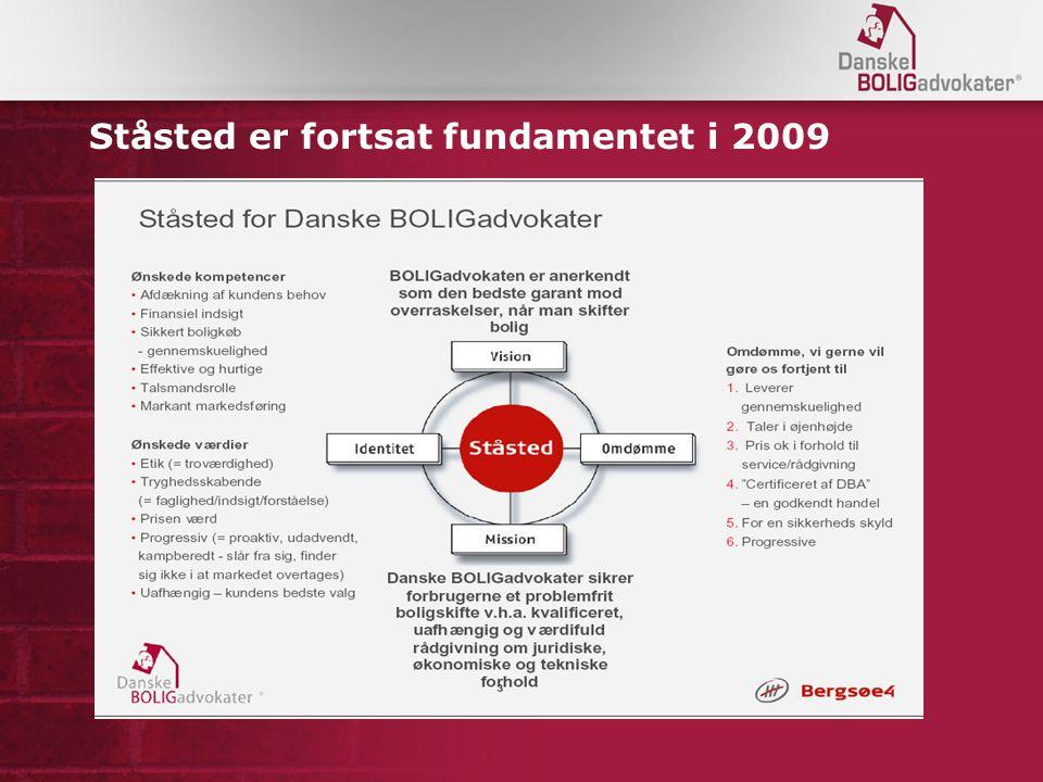 Ståsted er fortsat fundamentet i 2009