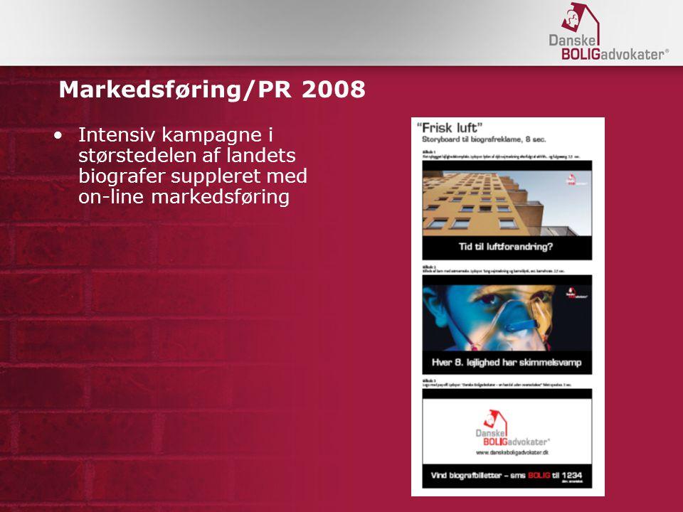 Markedsføring/PR 2008 Intensiv kampagne i størstedelen af landets biografer suppleret med on-line markedsføring