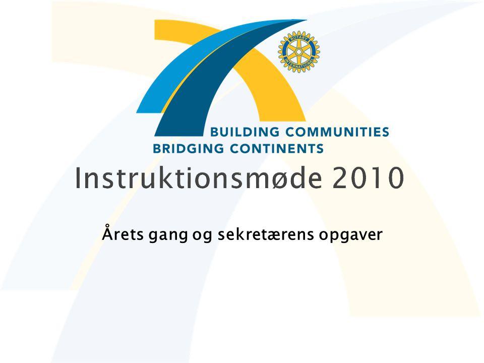 Instruktionsmøde 2010 Årets gang og sekretærens opgaver