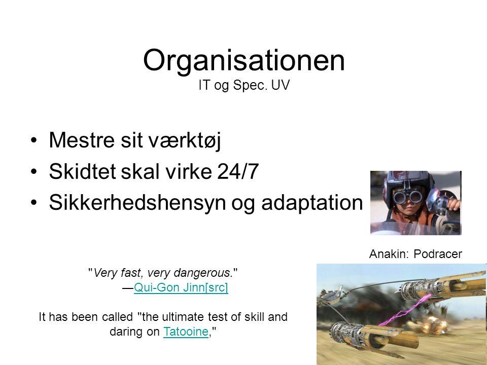Organisationen IT og Spec.