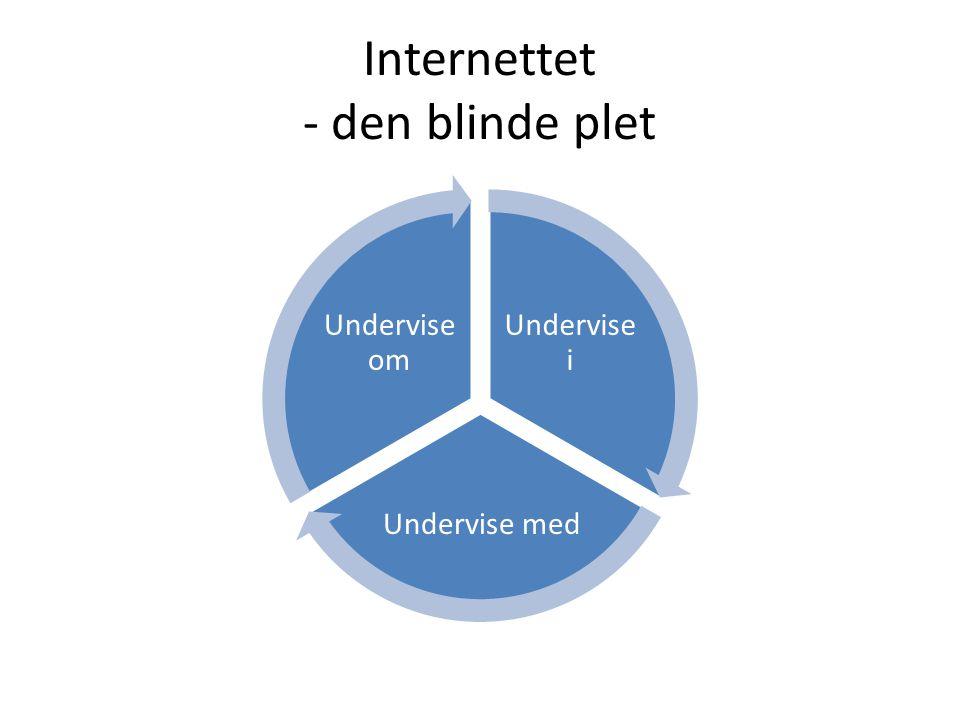 Internettet - den blinde plet Undervise i Undervise med Undervise om
