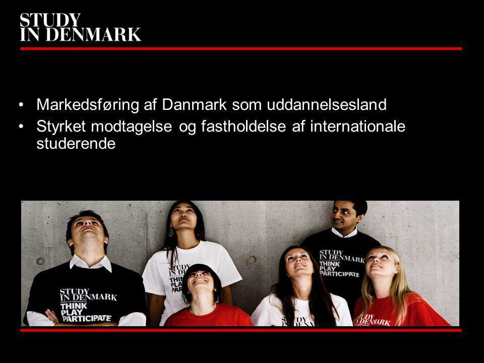Markedsføring af Danmark som uddannelsesland Styrket modtagelse og fastholdelse af internationale studerende