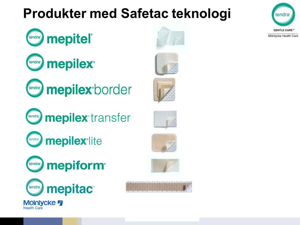 Produkter med Safetac teknologi