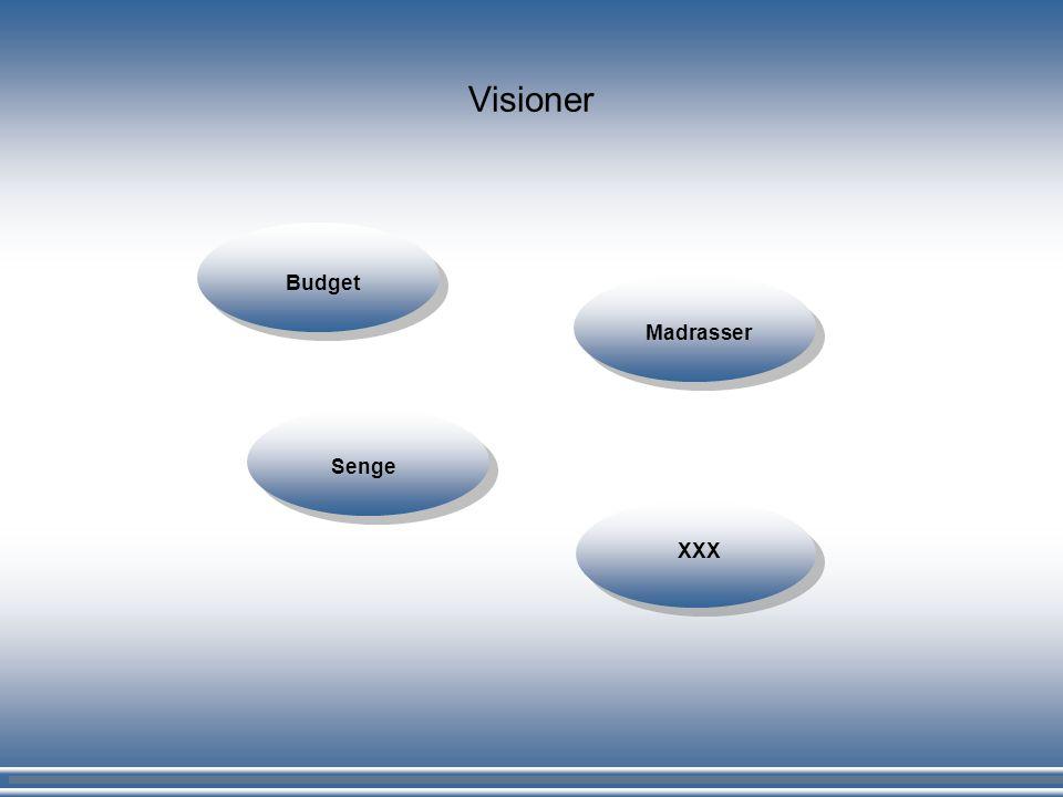 Visioner Budget Madrasser Senge XXX