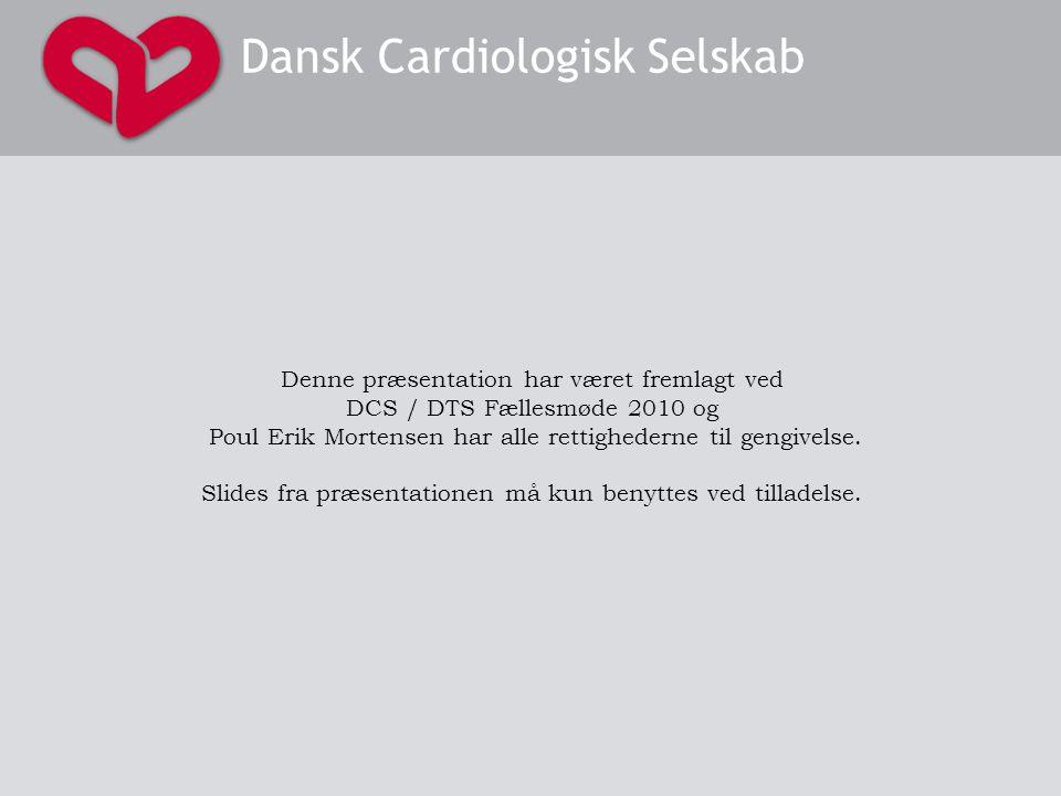 DCS/DTS fællesmøde januar 2010 Denne præsentation har været fremlagt ved DCS / DTS Fællesmøde 2010 og Poul Erik Mortensen har alle rettighederne til gengivelse.