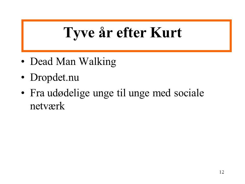 12 Tyve år efter Kurt Dead Man Walking Dropdet.nu Fra udødelige unge til unge med sociale netværk