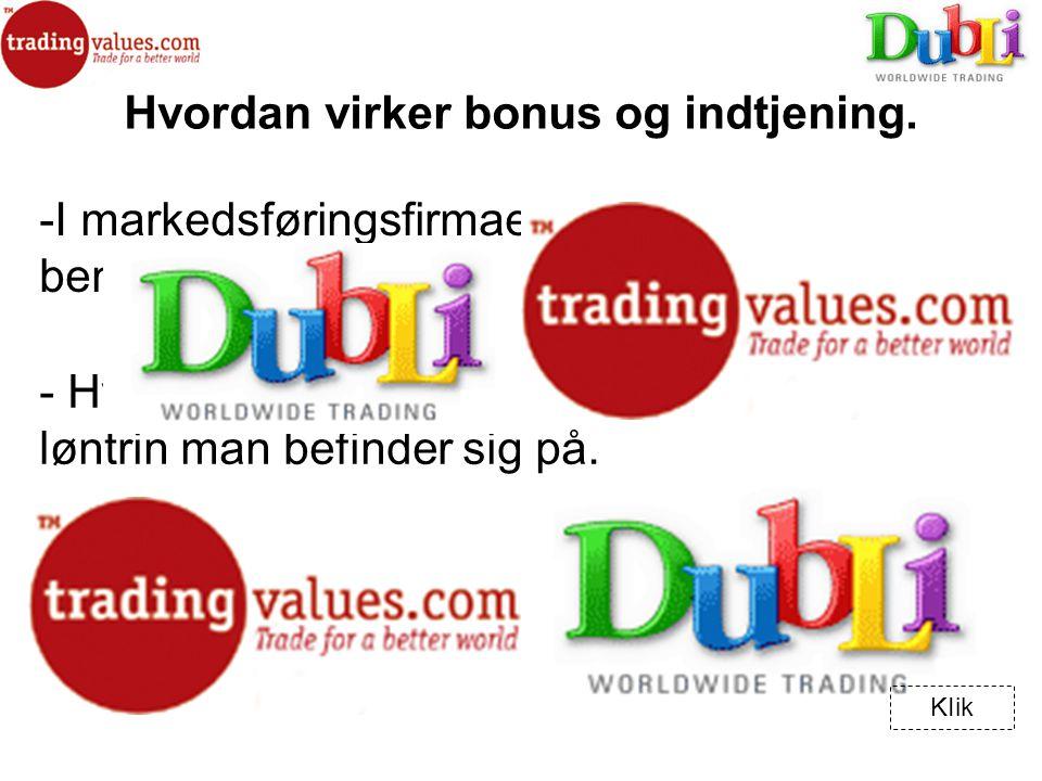 -I-I markedsføringsfirmaet TradingValues benytter man sig af flere forskellige titler.