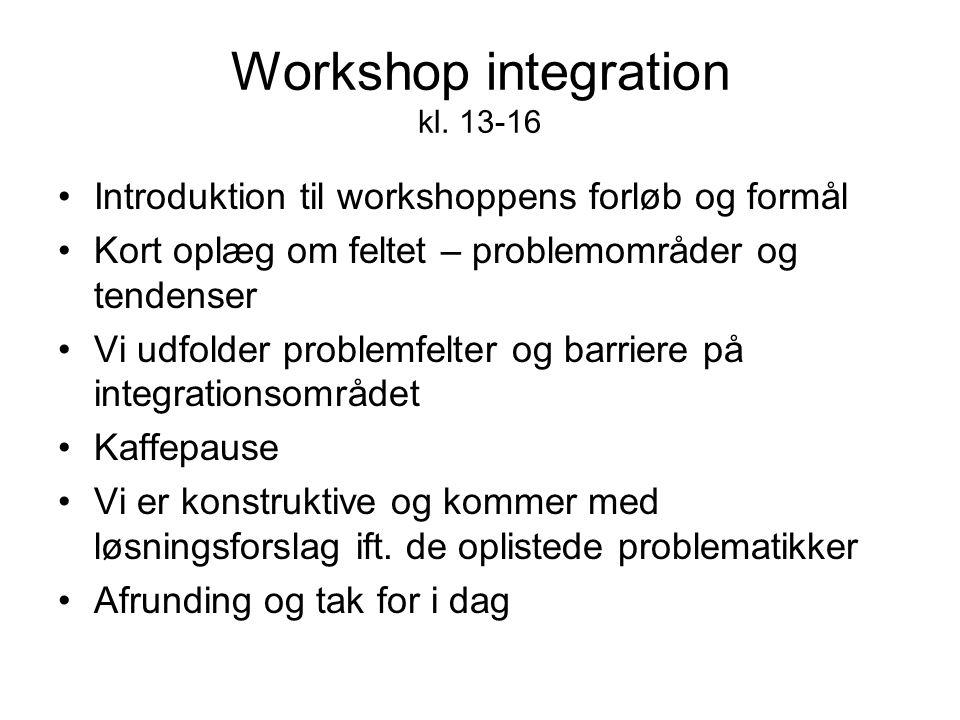 Workshop integration kl.