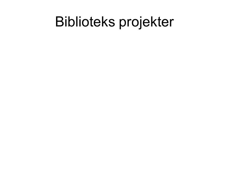 Biblioteks projekter