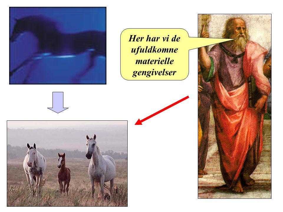 Platon Her har vi de ufuldkomne materielle gengivelser