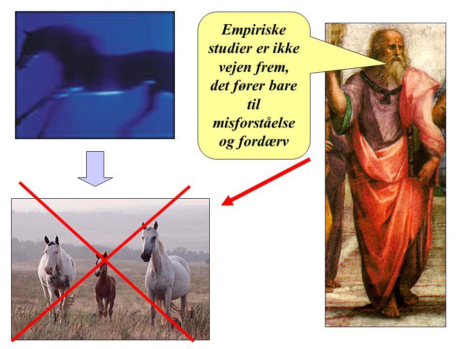 Platon Empiriske studier er ikke vejen frem, det fører bare til misforståelse og fordærv