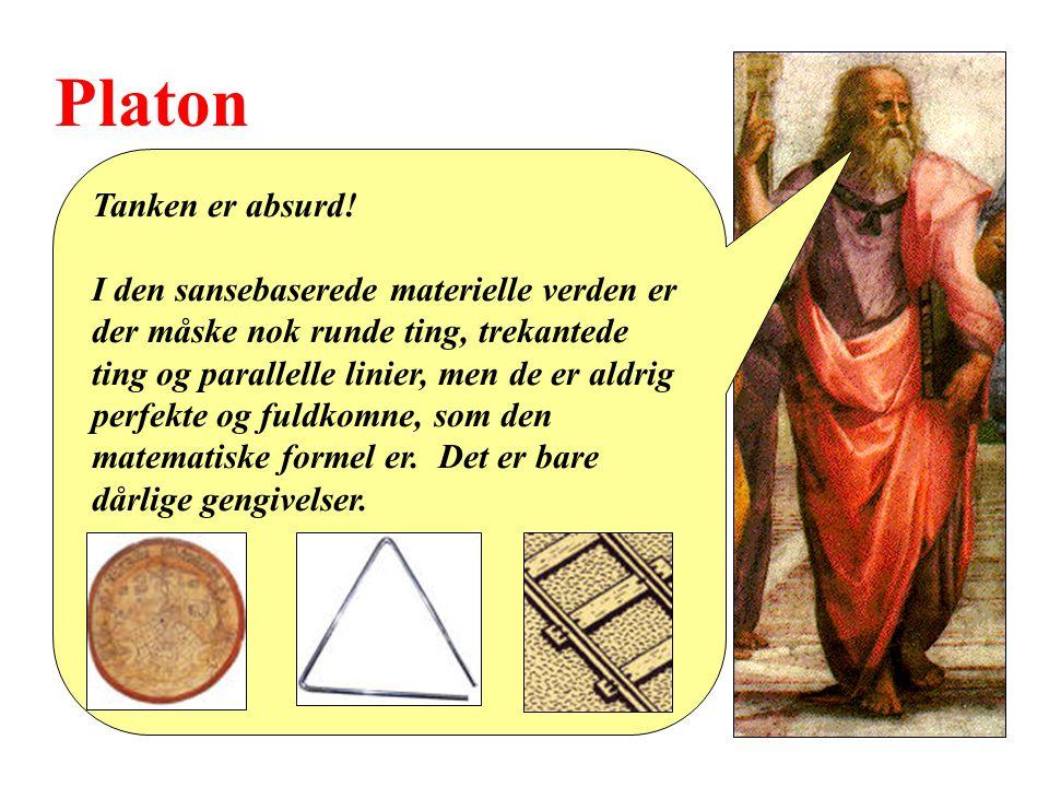 Platon Tanken er absurd.